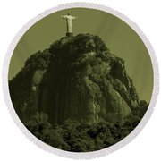 Christ The Redeemer Round Beach Towel