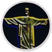 Christ The Redeemer - Rio Round Beach Towel