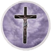 Christ Variations # 2 Round Beach Towel