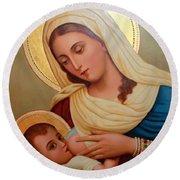 Christianity - Baby Jesus Round Beach Towel