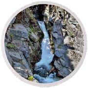 Christine Falls - Upper Part - Mount Rainier National Park 3 Round Beach Towel