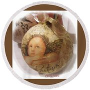 Christmas Ball , Angels Round Beach Towel