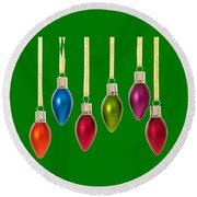 Christmas Baubles Tee Round Beach Towel