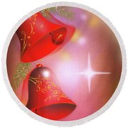 Christmas Bells Round Beach Towel
