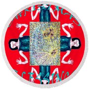 Christmas Blessings 3 Round Beach Towel