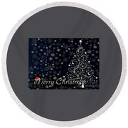 Christmas Card 10 Round Beach Towel