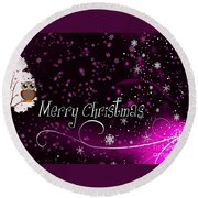 Christmas Card 2 Round Beach Towel