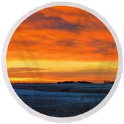 Christmas Eve Panrama 2 Round Beach Towel