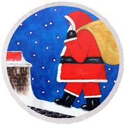 Christmas Eve Round Beach Towel