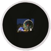 Christmas Fair Scotland Round Beach Towel