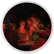 Christmas Fortune-telling. Round Beach Towel