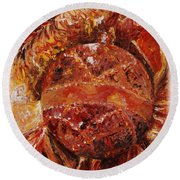 Christmas Glitter Round Beach Towel
