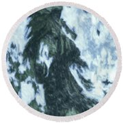 Christmas In Tesuque Round Beach Towel