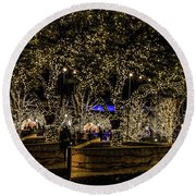 Christmas Lights Round Beach Towel