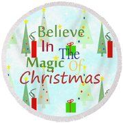 Christmas Magic Round Beach Towel