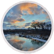 Christmas Morning 2017 In Glacial Park 2 Round Beach Towel