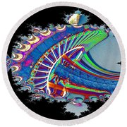 Christmas Needle In Fractal Round Beach Towel