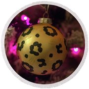Christmas Ornament Round Beach Towel