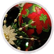 Christmas Ornaments 2 Round Beach Towel