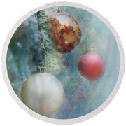 Christmas - Ornaments Round Beach Towel