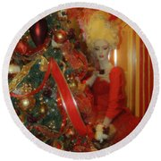 Christmas Parlor Fashions For Evergreens Event Hotel Roanoke 2009 Round Beach Towel