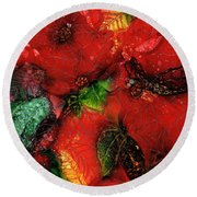 Christmas Remembered Round Beach Towel