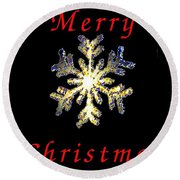 Christmas Snowflakes Round Beach Towel