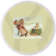 Christmas Tree Round Beach Towel