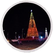 Christmas Tree San Salvador 6 Round Beach Towel