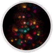 Christmas Tree Splatter Paint Abstract Round Beach Towel