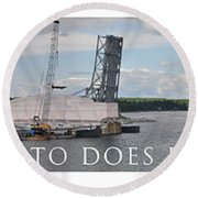 Christo Does Door County Round Beach Towel