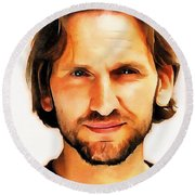 Christopher Eccleston Round Beach Towel