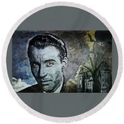 Christopher Lee Round Beach Towel