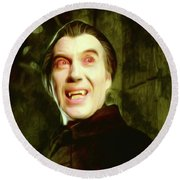 Christopher Lee, Dracula Round Beach Towel