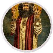 Christus Resurrexit Round Beach Towel