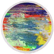 Chromatic Round Beach Towel