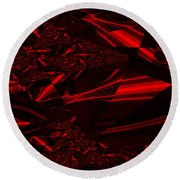 Chrome In Red Round Beach Towel
