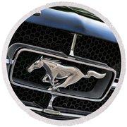 Chrome Stallion - Ford Mustang Round Beach Towel