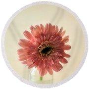 Chrysanthemum #029 Round Beach Towel