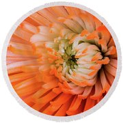 Chrysanthemum Serenity Round Beach Towel