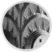 Chrysler Building Crown Round Beach Towel