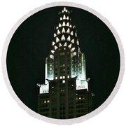 Chrysler Building In Manhattan New York City Round Beach Towel