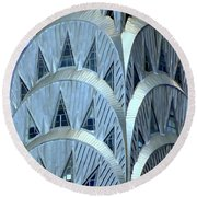 Chrysler Closeup Round Beach Towel