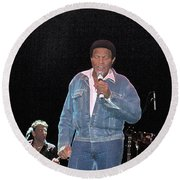Chubby Checker Round Beach Towel