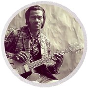 Chuck Berry, Music Legend Round Beach Towel