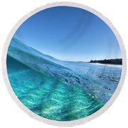 Chunk Of Blue. Round Beach Towel