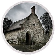 Church At Castle Frankenstein Round Beach Towel