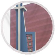 Church Bells Round Beach Towel