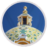 Church Dome And Blue Sky Round Beach Towel
