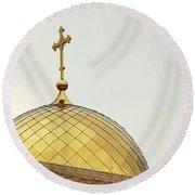 Church Golden Dome Round Beach Towel